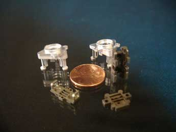 EDM miniature, small parts manufactuer for satellite components and parts
